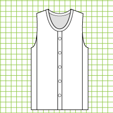 Ivy Buttoned Plus Vest - Dynamic Pattern