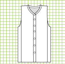 Mulberry Buttoned Plus Vest - Dynamic Pattern