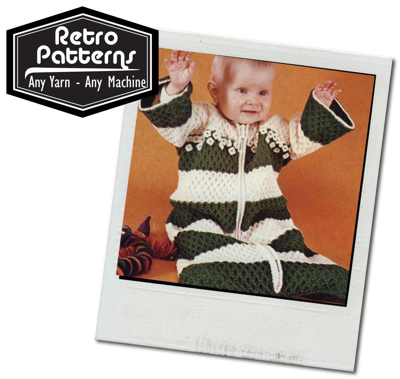 Baby Sleeping Bag   Machine Knitting Pattern   Knit It Now