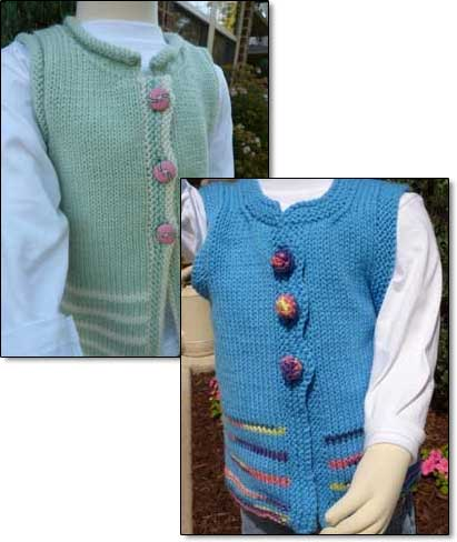 Child's Vest - Dynamic Pattern