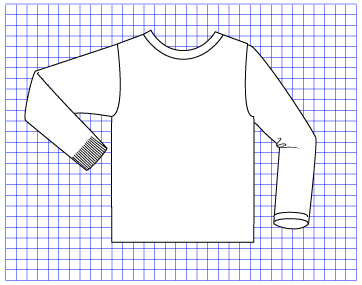Chalk Pullover - Dynamic Pattern