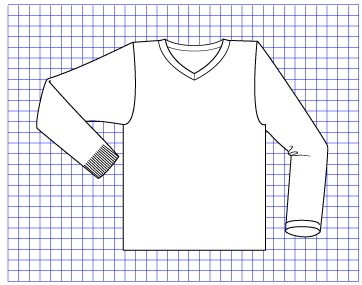 Chromium Pullover - Dynamic Pattern