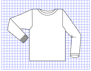 Cobalt Pullover - Dynamic Pattern