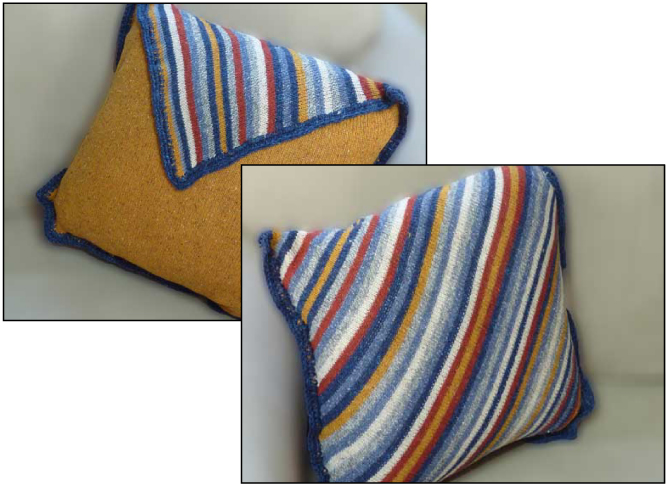 Your Way Diagonal Pillow - Dynamic Pattern
