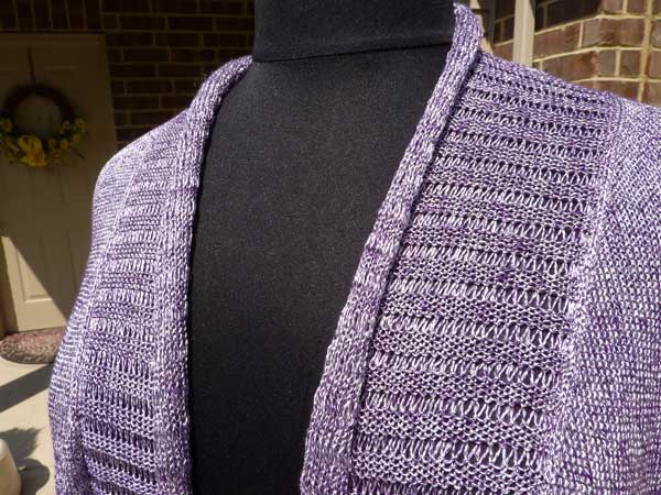 Women's Elongated Stitches Cardigan - Dynamic Pattern