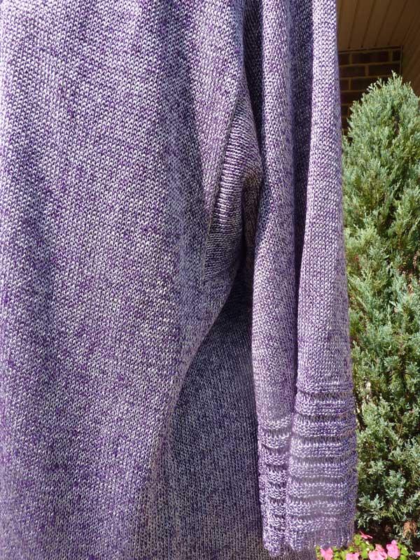 Women S Elongated Stitches Cardigan Machine Knitting