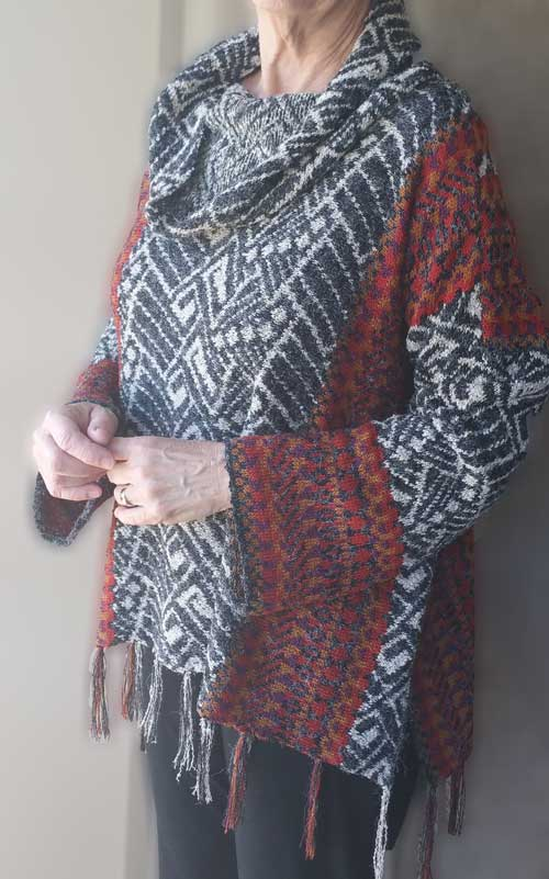 Abstract Sideways Pullover - Dynamic Pattern
