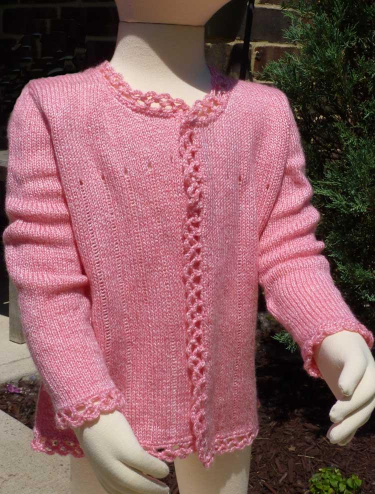 Knitting Pattern Basic Cardigan : Girls Basic Cardigan Child Sizes Knit it Now
