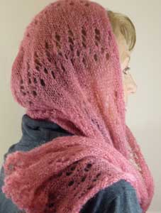 Adult Hooded Scarf - Dynamic Pattern