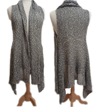 waterfall vest for machine knitters