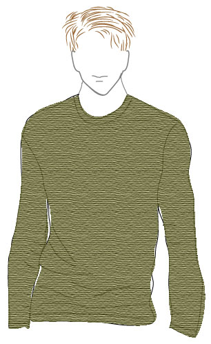 Man's Basic Pullover - Dynamic Pattern