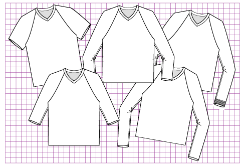 Mauve Pullover - Dynamic Pattern