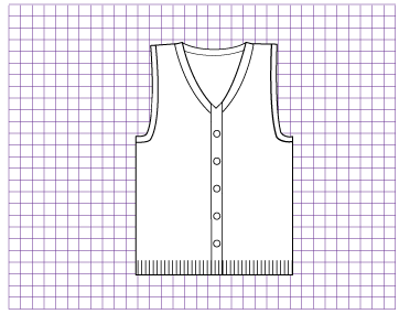 Pyrite Buttoned  Vest - Dynamic Pattern