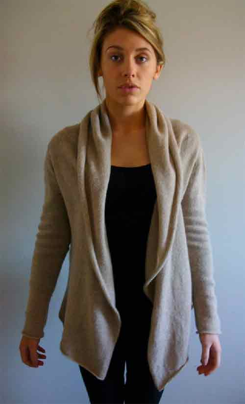 Soft Wrap Cardigan - Dynamic Pattern