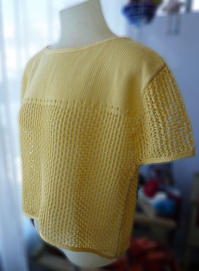 machine knitting pattern