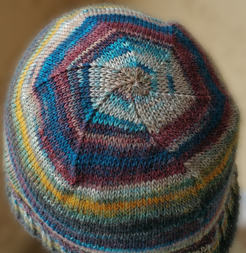 Adult Shaped Crown Beanie - Dynamic Pattern