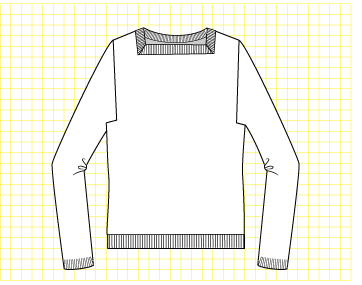 Taffy Pullover - Dynamic Pattern