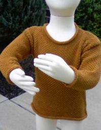 Child's Simple Rolled Neck Pullover