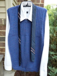Man's Basic Vest - V neck