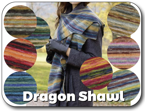 Dragon Shawl Knit In Now Course