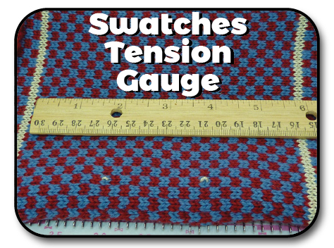 Swatches, Tension and Gauge Knit In Now Course
