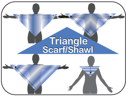Triangle Scarf or Shawl Knit In Now Course