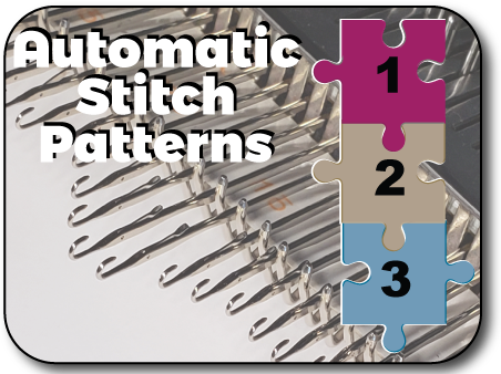 Automatic Stitch Patterning Knit In Now Course