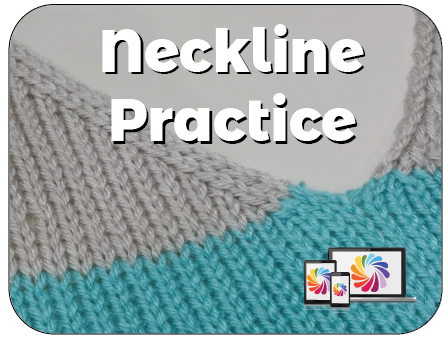 Neckline Shaping Practice Knit In Now Course