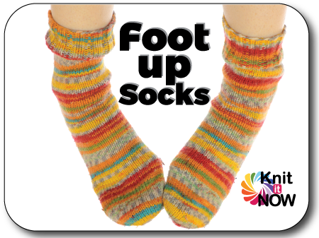 Foot Up Socks Knit In Now Course