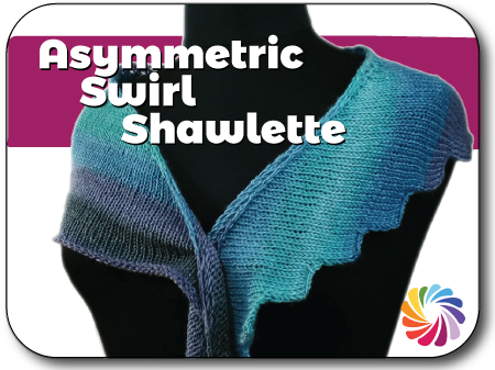Machine Knit Asymmetric Shawlette Knit In Now Course