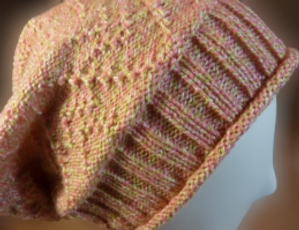 Roll 'n Rib Slouchy Hat - Knit In Now Project