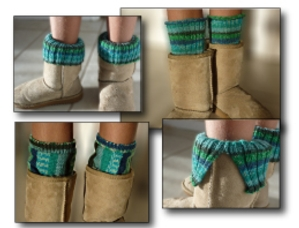 Boot Toppers (aka leg warmers) - Knit In Now Project