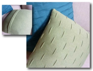 Pintuck Square Pillow - Knit In Now Project