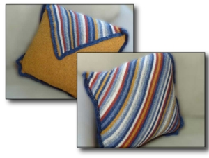 Make it Your Way Diagonal Pillow - Knit In Now Project