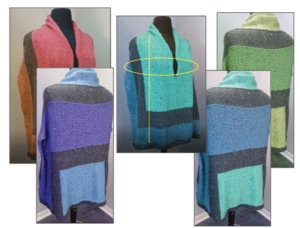 Color Block Poncho - Knit In Now Project