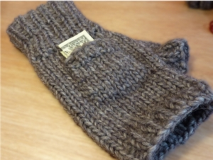 Quick Fingerless Mittens - Knit In Now Project