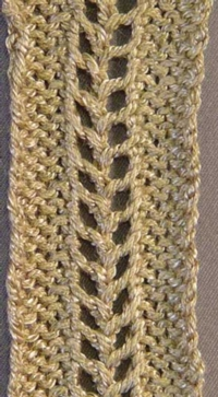 Easy Openwork Braid Tutroial for Machine Knitting