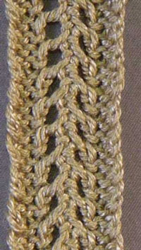Easy Openwork Braid 2 Tutorial for Machine Knitting