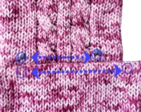 Swatching for Cables (shortcut) Tutorial for Machine Knitting
