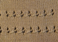 Cabled Eyelets Tutorial for Machine Knitting