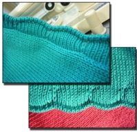 Scalloped Edge Tutorial for Machine Knitting
