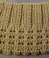 Textured Collar (Double Bed) tutorial for Machine Knitting