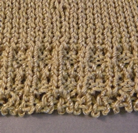 Ribber Lace Edge tutorial for Machine Knitting
