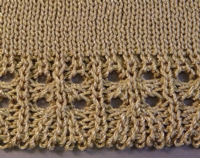 Ribber Lace Edge 2 Tutorial for Machine Knitting