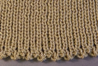 Delicate Ribbed Edge (Double Bed) tutorial for Machine Knitting