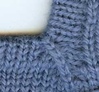 Square Neck Mitered Band Tutorial for Machine Knitting
