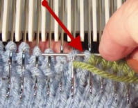 Kitchener Stitch on the Machine - Knit Side Tutroial for Machine Knitting