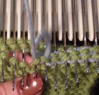 kitchener stitch on the knitting machine