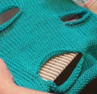 Openwork Slashes tutorial for Machine Knitting