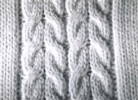 Hand Manipulated Double Cables Arrow In Tutroial for Machine Knitting